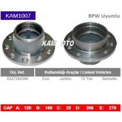 KAM1007 Bpw Uyumlu 0327244340 Eco Jumbo 12 Ton Somunlu Tip Porya Wheel Hub