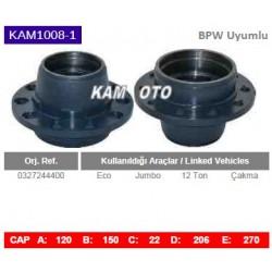 KAM1008-1 Bpw Uyumlu 0327244400 Eco Jumbo 12 Ton Çakma Tip Porya Wheel Hub