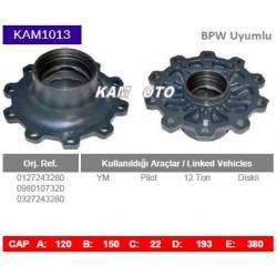 KAM1013 Bpw Uyumlu 0127243280 0980107320 0327243280 Pilot 12 Ton Diskli Tip Porya Wheel Hub