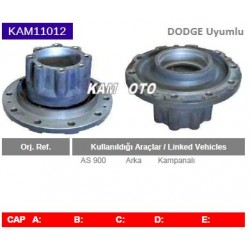 KAM11012 Dodge Chrysler Uyumlu AS900 Arka Porya Wheel Hub