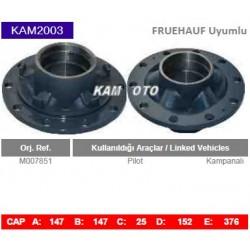 KAM2003 Fruehauf Uyumlu M007851 Pilot Kampanalı Tip Porya Wheel Hub