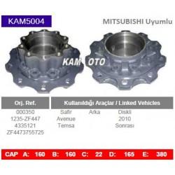 KAM5004 Mitsubishi Temsa Uyumlu 000350 1235-ZF447 4335121 ZF4473755725 Arka Porya Wheel Hub