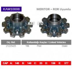 KAM10008 Arvin Meritor ROR Uyumlu 21225425 Pilor Diskli Tip Porya Wheel Hub