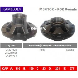 KAM10014 Arvin Meritor ROR Uyumlu 21221625 212211625 21219784 Pilot Çakma Tip Porya Wheel Hub