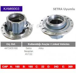 KAM6003 Setra Neoplan Uyumlu 4472435160 Arka Porya Wheel Hub