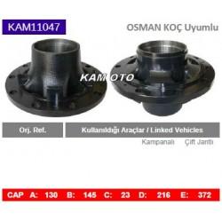 KAM11047 Osman Koç Uyumlu Kampanalı Çift Jantlı Tip Porya Wheel Hub
