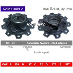 KAM11008-2 Trax-Özkoç Dorse Uyumlu Trax Porya Wheel Hub