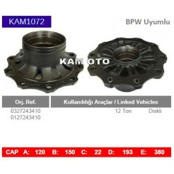 KAM1072 BPW Uyumlu 0327243410 0127243410 Porya Wheel Hub