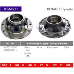 KAM608 Renault Uyumlu 7420517167 1026661 5001861915 Kerax Arka Cerli Kampanalı Tip Porya Wheel Hub